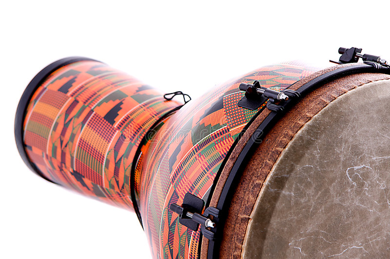 Cilindro africano do Conga de Djembe imagem de stock royalty free