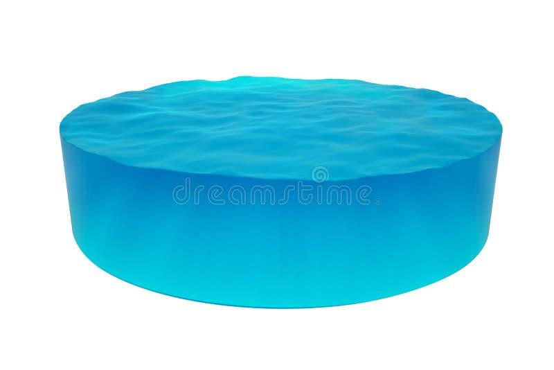 Cilindro aislado del agua ilustración del vector