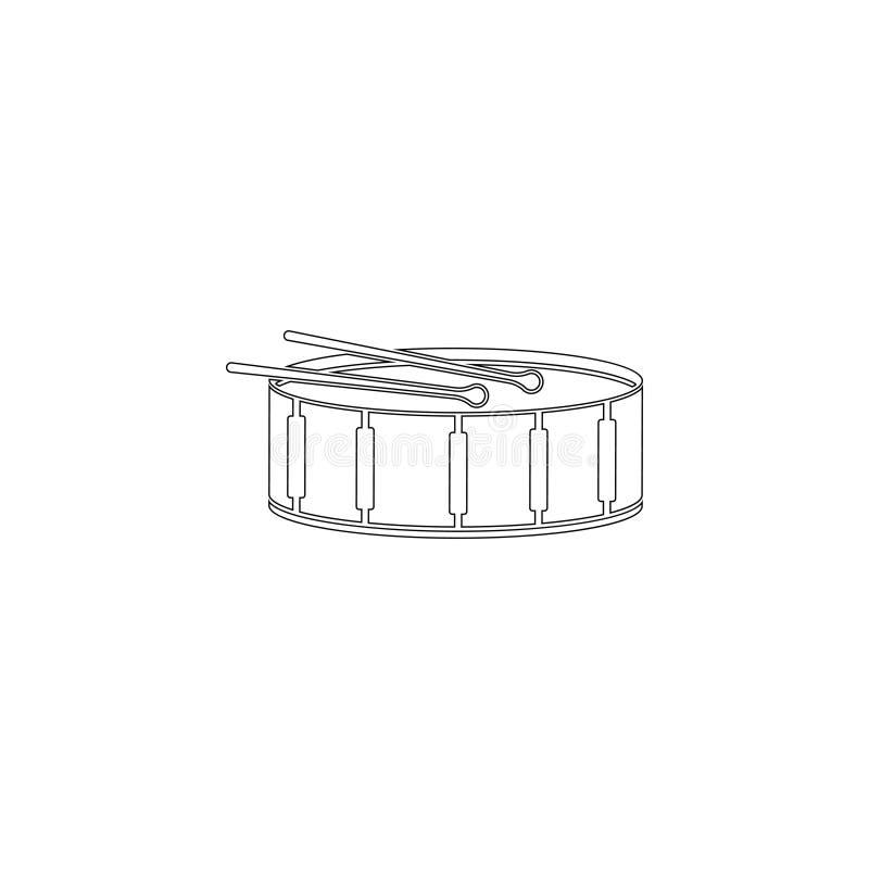 Cilindro ?cone liso do vetor ilustração stock