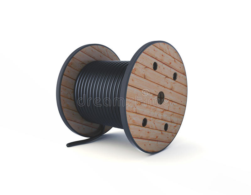 cilindro de cabo 3d isolado no branco fotos de stock