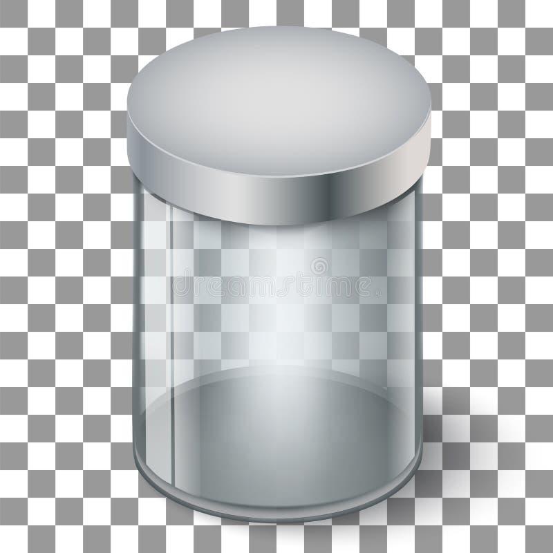 Cilindro de cristal vacío stock de ilustración