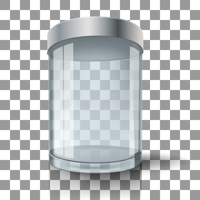 Cilindro de cristal vacío ilustración del vector