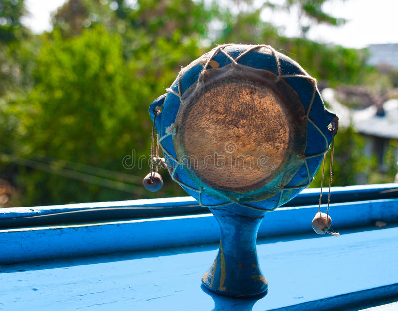 Cilindro de Damaru fotografia de stock royalty free
