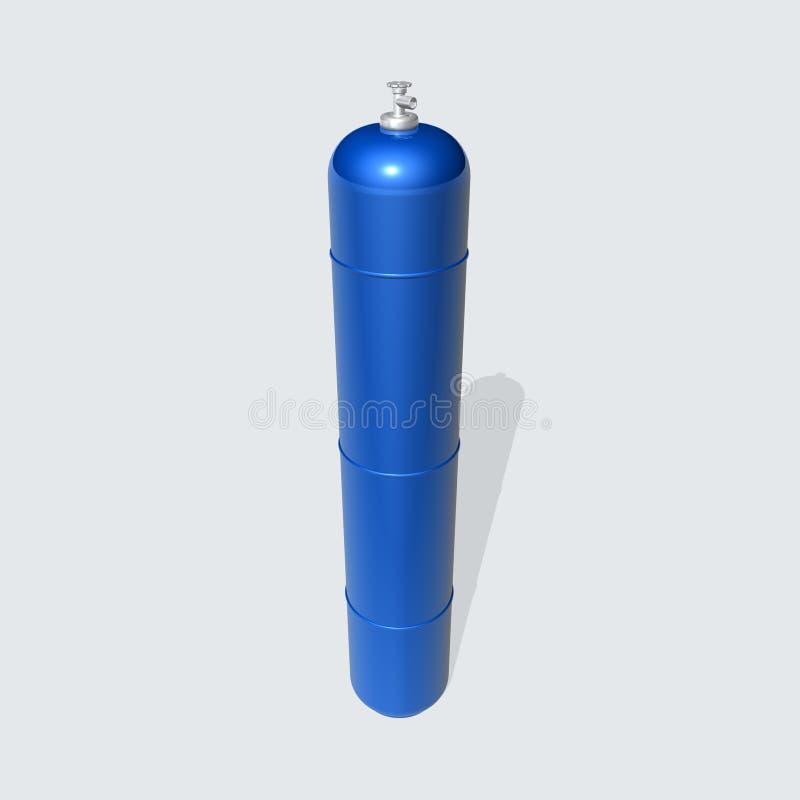 Cilindro de gás ilustração stock