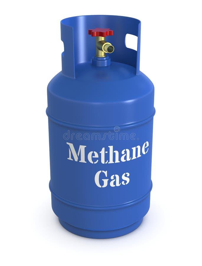 Cilindro de gás do metano ilustração stock
