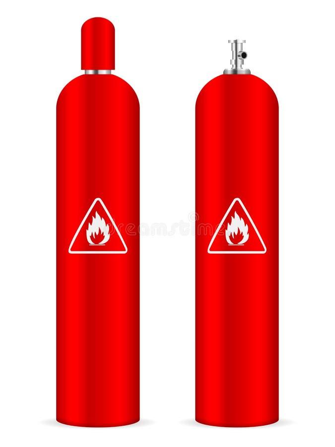 Cilindro de gás do propano ilustração royalty free