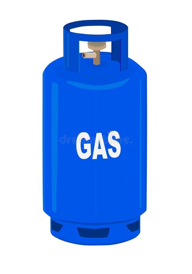 Cilindro de gás do propano. ilustração do vetor