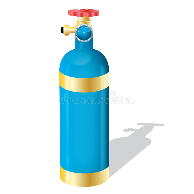 Cilindro de gas stock de ilustración