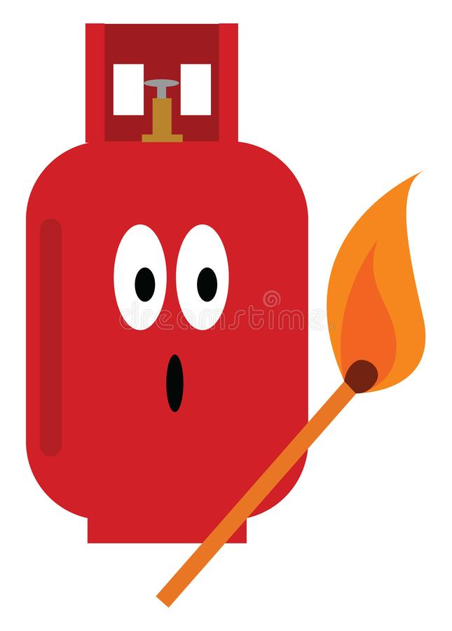 Cilindro de gas, vector o ilustración de color stock de ilustración