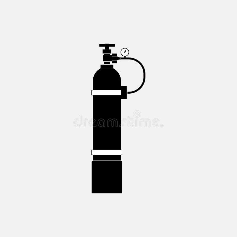 Cilindro de oxígeno del icono ilustración del vector