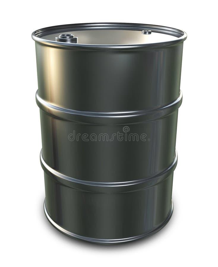 Cilindro de petróleo do cromo ilustração royalty free