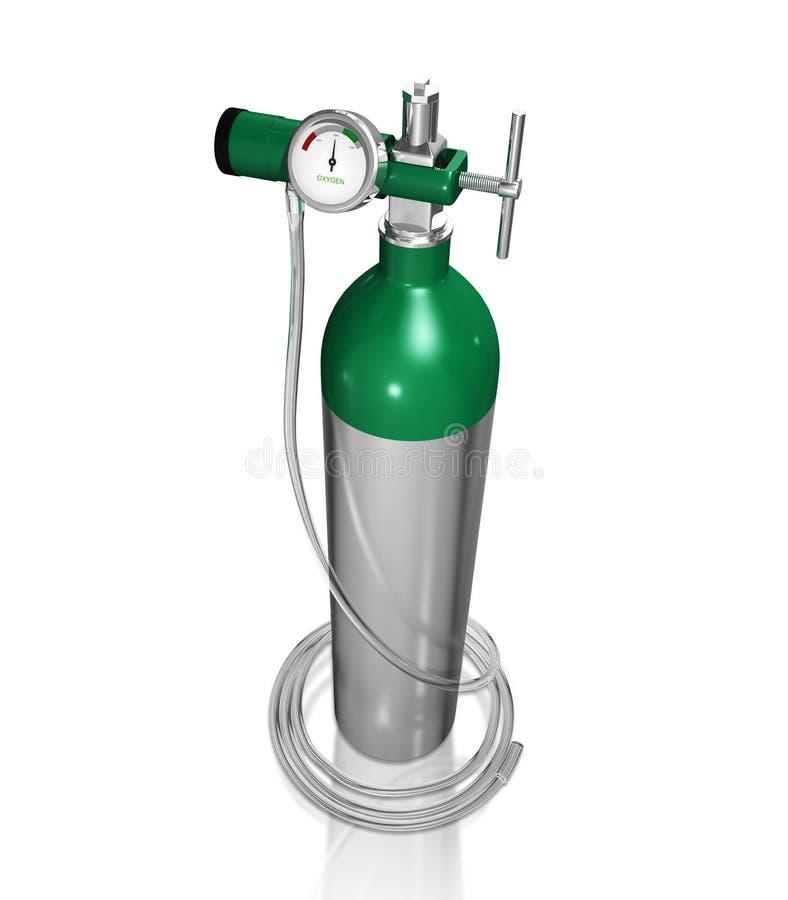 Cilindro di ossigeno illustrazione di stock