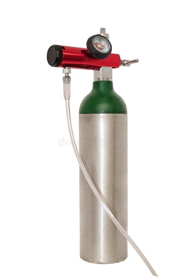 Cilindro di ossigeno portatile per uso medico immagini stock