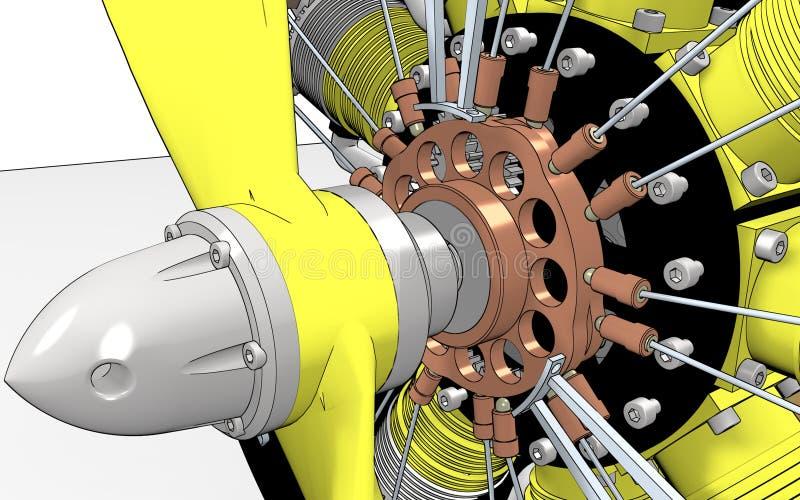 Cilindro do motor radial imagem de stock