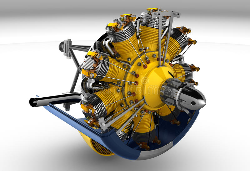 Cilindro do motor radial imagem de stock royalty free