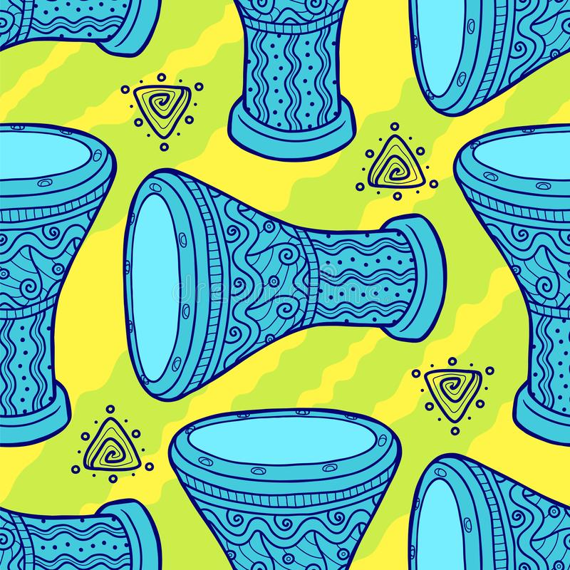 cilindros Cilindros árabes percussão ilustração stock