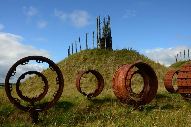 Cilindros da roda - regeneração do antigo local Opencast fotografia de stock royalty free