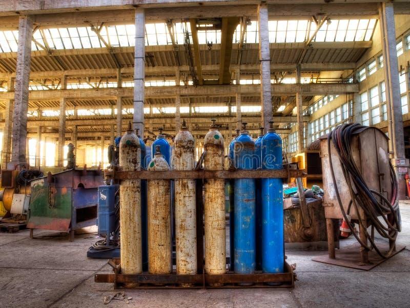 Cilindros de gas imagen de archivo libre de regalías