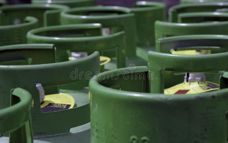 Cilindros de gas del propano foto de archivo