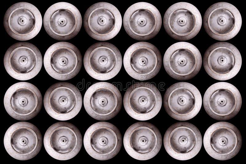 Cilindros de gas - visión superior imagenes de archivo