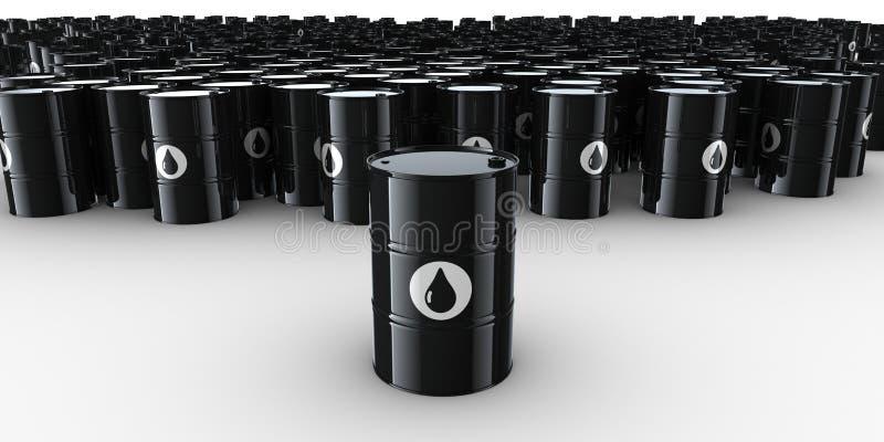 Cilindros de petróleo ilustração stock