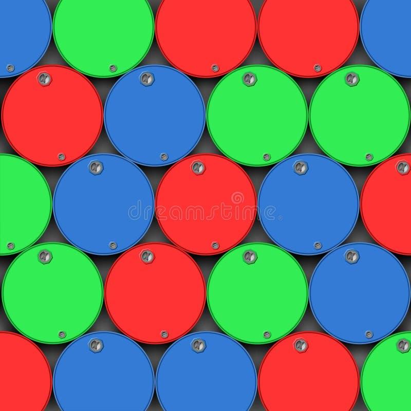 Cilindros de petróleo, tambores ilustração do vetor