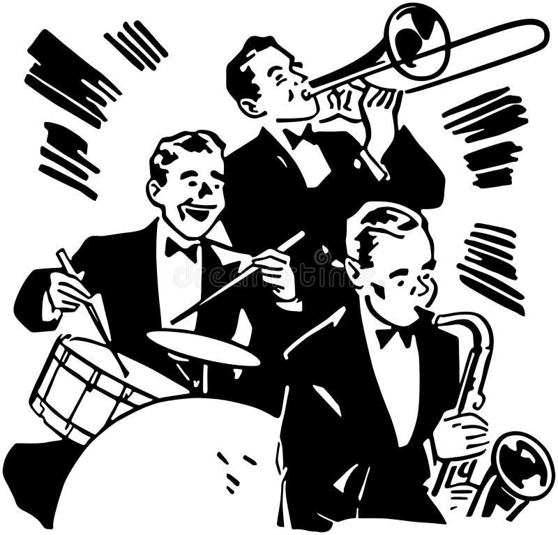 Cilindros e chifres do big band ilustração do vetor