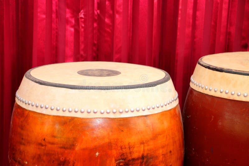 Cilindros - instrumentos musicais tailandeses tradicionais fotografia de stock