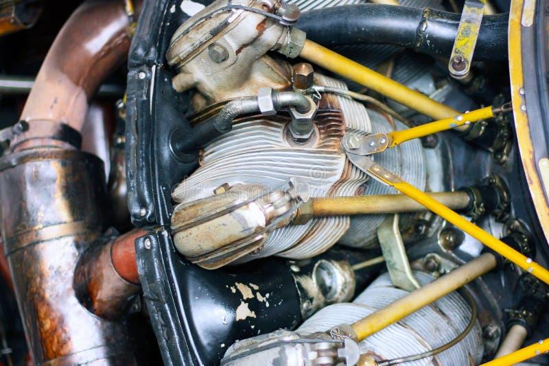 Cilindros radiais do motor do avião foto de stock royalty free