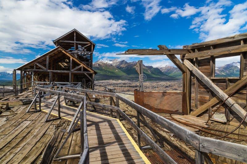 In cima al mulino storico di Kennicott fotografia stock libera da diritti