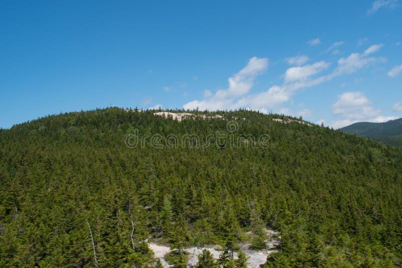 In cima alla montagna fotografie stock