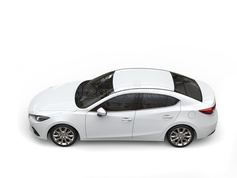 Cima automobilistica di chiari affari veloci moderni bianchi giù la vista immagine stock