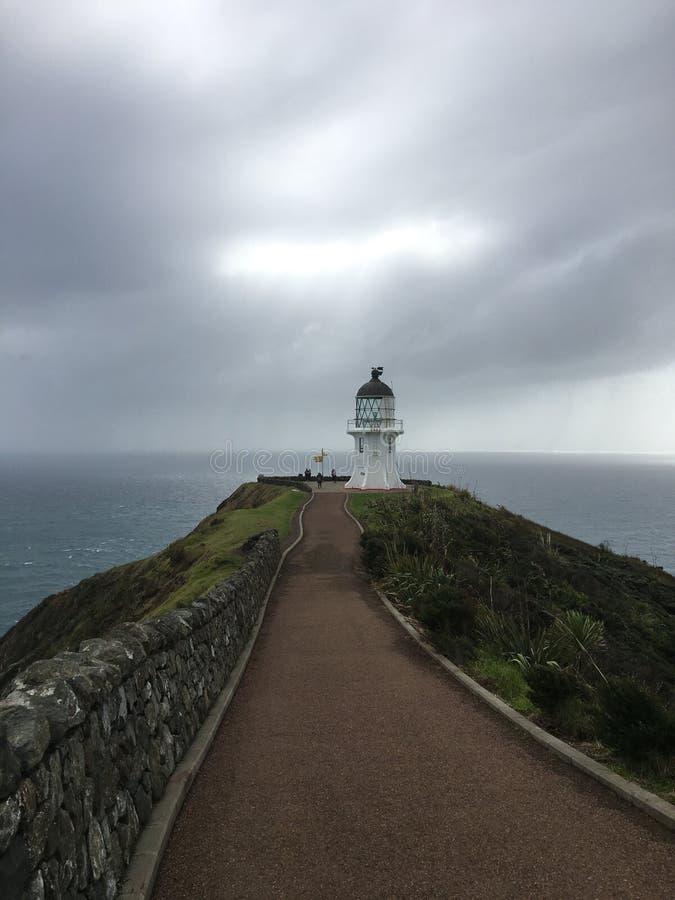 Cima del faro della Nuova Zelanda fotografia stock libera da diritti
