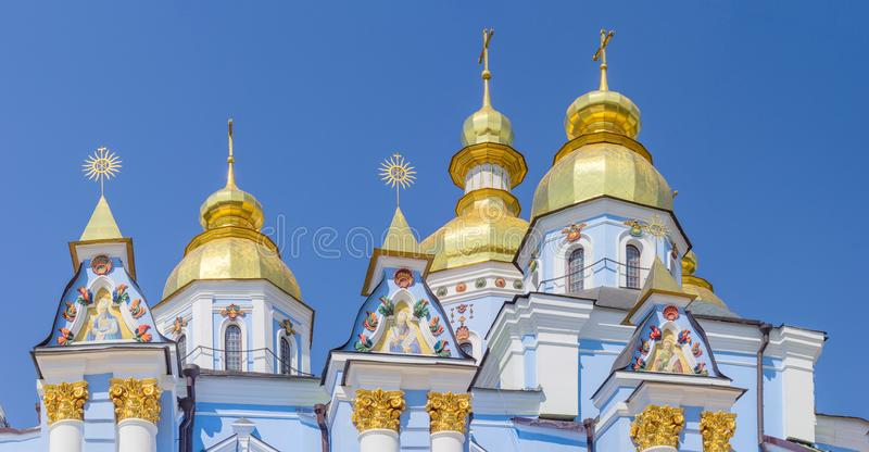 Cima del san Michael Golden-Domed Cathedral, Kiev, Ucraina fotografia stock