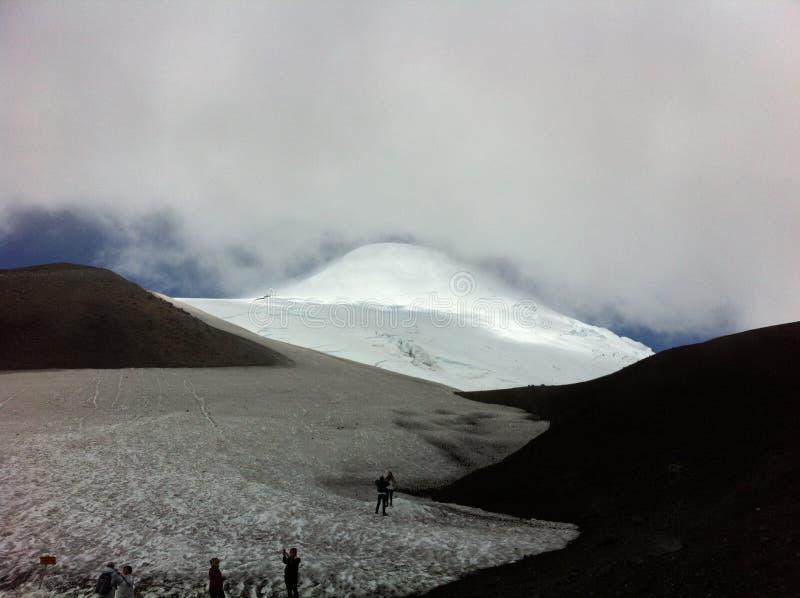 Cima del vulcano di Osorno immagini stock libere da diritti