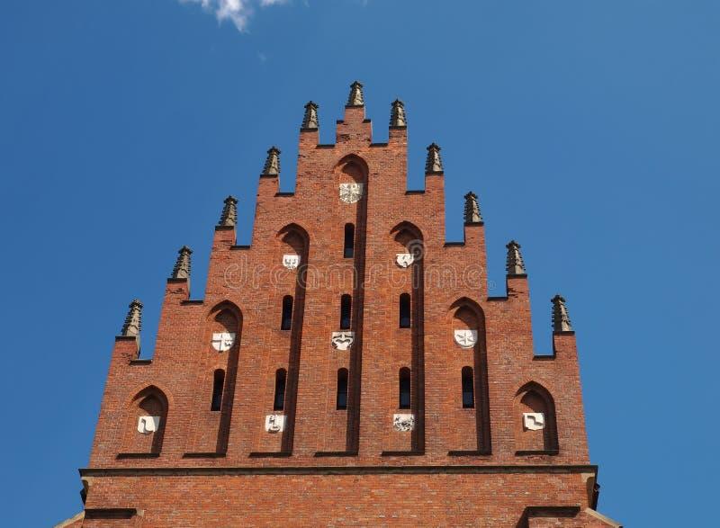 Cima della basilica della trinità santa a Cracovia, Polonia fotografia stock