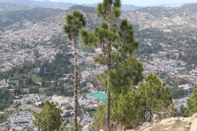 Cima della collina di Sarban nel pakistan fotografia stock libera da diritti