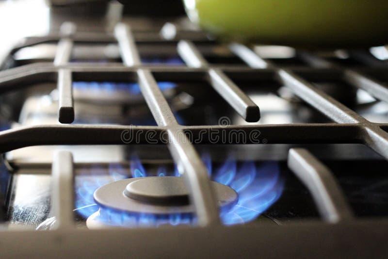 Cima della stufa del gas naturale fotografia stock libera da diritti