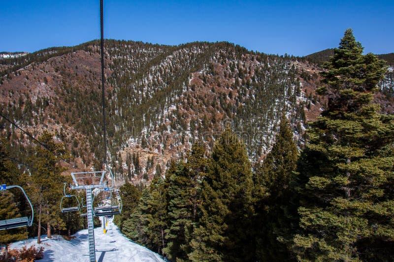 Cima di Sipapu Ski Resort New Mexico Skiing di vita fotografia stock