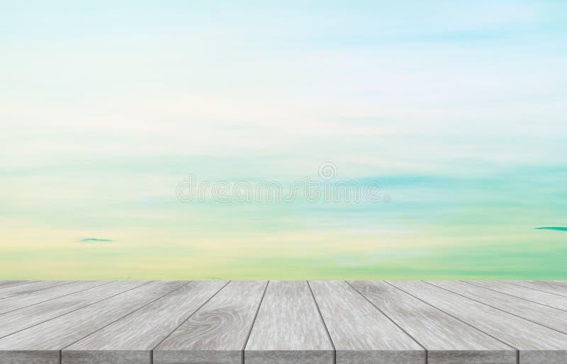 Cima vuota della tavola di legno immagine stock libera da diritti