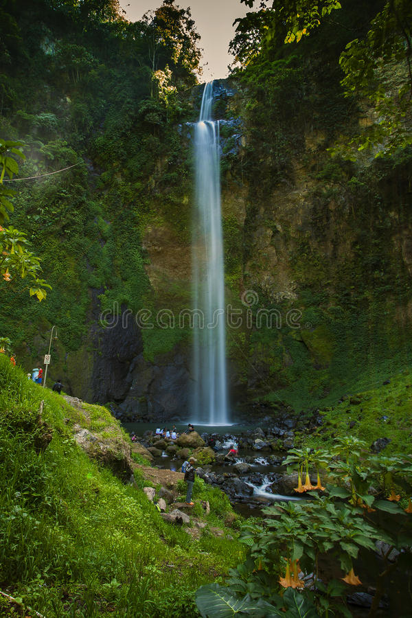 Cimahi waterfall. In the morning royalty free stock images