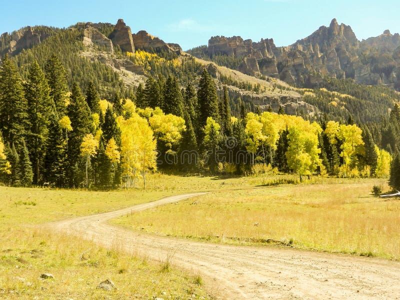 Cimarron-Tal Colorado stockfotografie