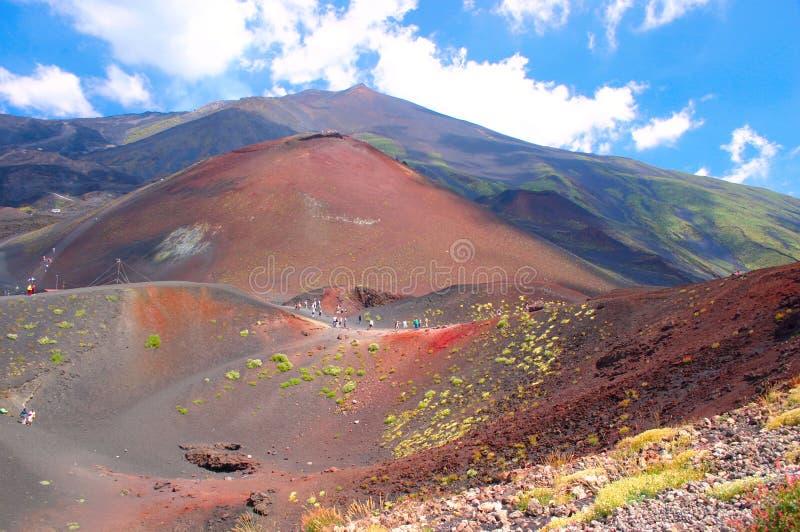 A cimeira da montagem Etna, Sicília fotografia de stock
