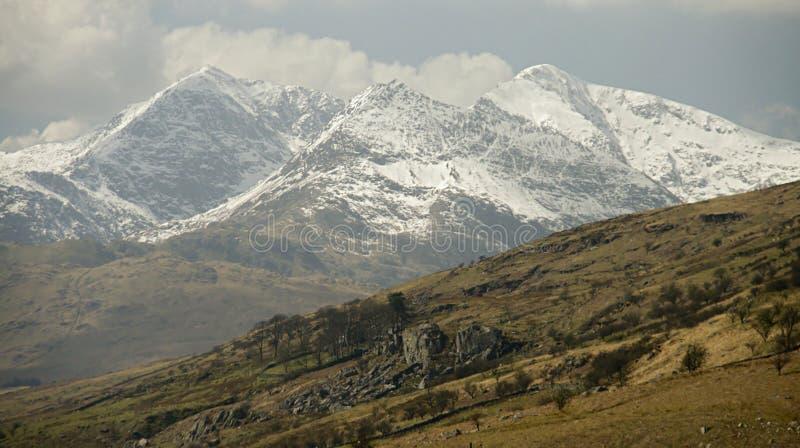 Cimeira da montagem Snowdon fotos de stock royalty free