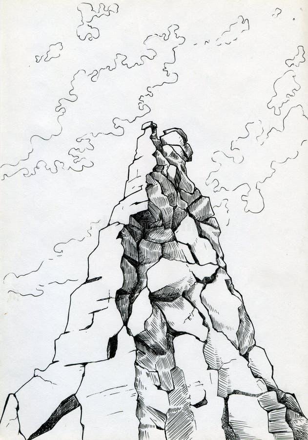 Cimeira da montanha ilustração stock