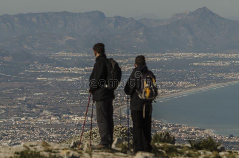 Cimeira da montanha fotografia de stock