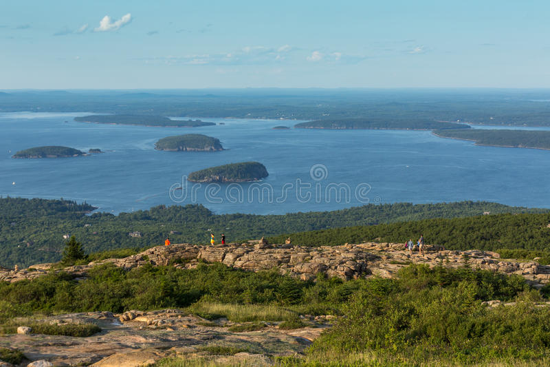 Cimeira da montanha de Cadillac, parque nacional do Acadia, EUA foto de stock royalty free