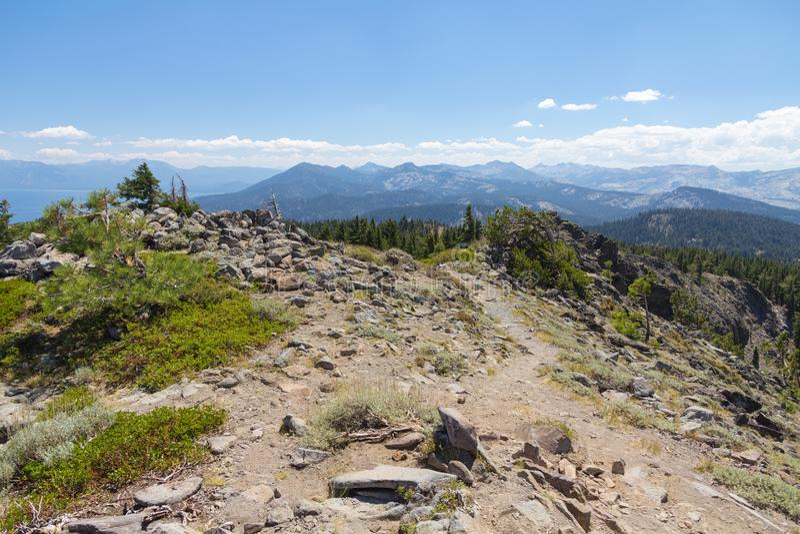 Cimeira de Ellis Peak, floresta nacional de Tahoe, Califórnia foto de stock royalty free