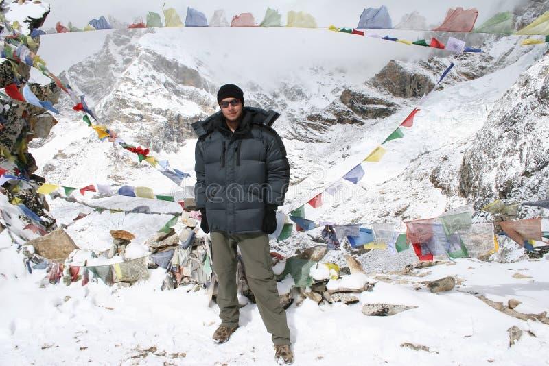 Cimeira de Kala Patthar - Nepal fotografia de stock