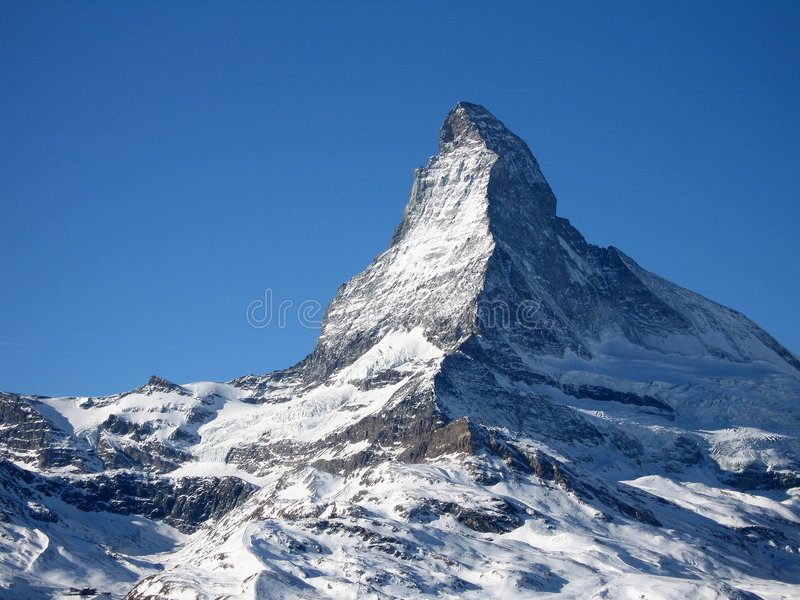A cimeira de Matterhorn imagens de stock royalty free